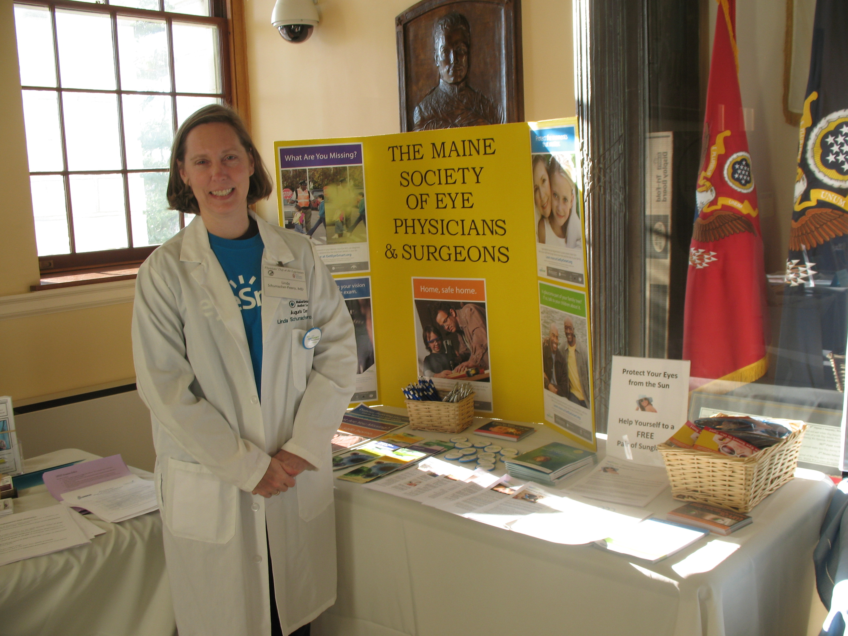 Linda Schumacher Feero, MD, President, Maine Society of Eye Physicians and Surgeons at MSEPS Display Booth