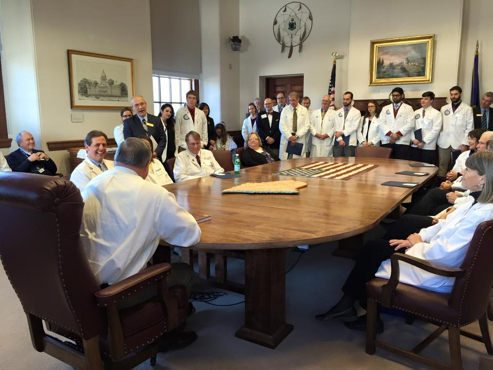 Governor LePage Addressing Physicians at Physicians' Day at the Legislature