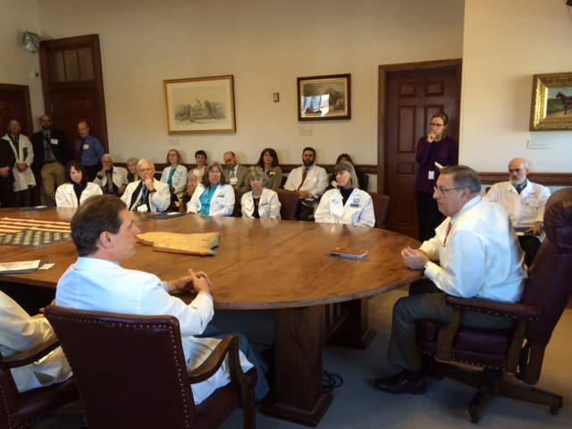 The doctors meet with Governor LePage.
