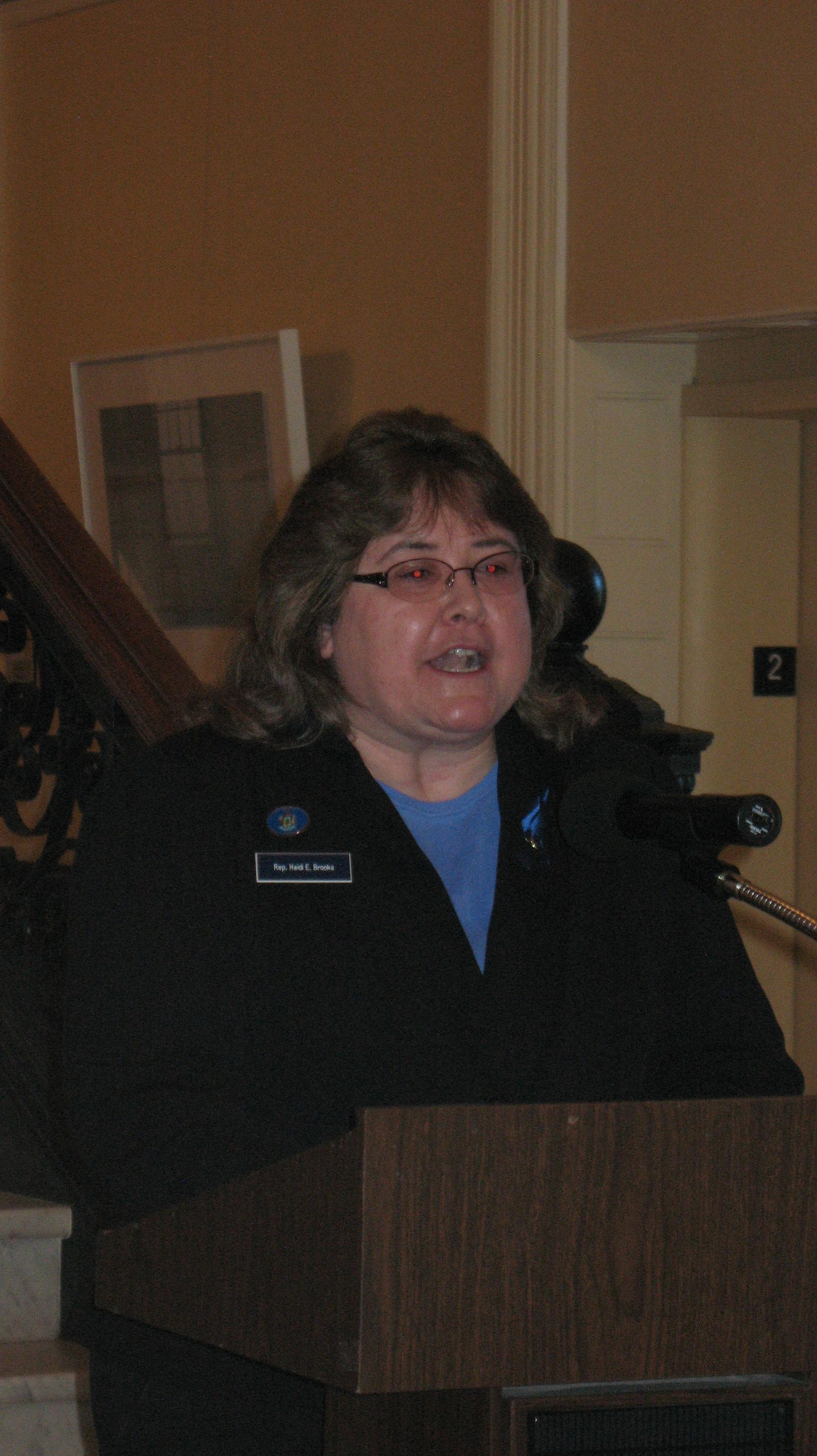 Representative Heidi Brooks, MD