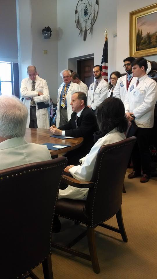 Physicians in Cabinet Room.
